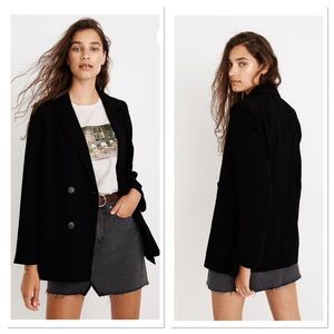 Madewell Caldwell Double Breasted Black Blazer XS